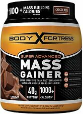 Body Fortress Super Advanced Mass Gainer, Chocolate, 2.25 Pounds, New