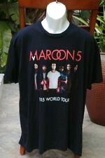 Maroon 5 World Tour 2015 Men's Black Concert Tee T Shirt Usa Made Size 2Xl