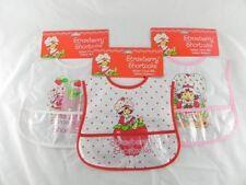 Infant Vinyl Bibs Waterproof Baby-  Strawberry Shortcake Set of 6