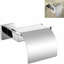 Stainless Steel Bathroom Toilet Paper Roll Holder with Cover Mirror Polished