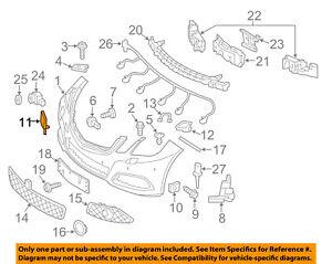 Mercedes MERCEDES-BENZ OEM Front Bumper-Tow Hook Eye Cap Cover 21288501269040