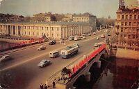 B99537 car voiture bus autobus leningrad russia