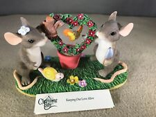 """Fitz & Floyd Charming Tails Figurine """"Keeping Our Love Alive"""" #89/710 Box"""