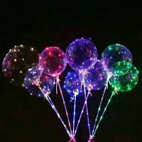 LED Balloons Helium Clear Latex Balloons with Wired Led Lights Party Decor New