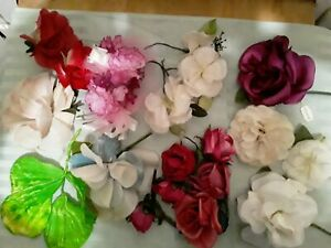 Lot Of Old Vtg Millinery Flowers For Hats Crafting