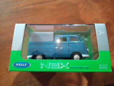 Miniature VW Volkswagen T1 Double Cabine Pick Up 1:38 Welly