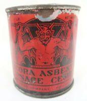 Red Devil Trident 1 lb PECORA ASBESTOS FURNACE CEMENT Philadelphia iron tin can