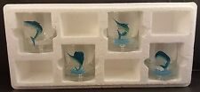 4 SALTWATER FISH LIMITED EDITION- Manhattan Glasses -  only 5000 sets made**
