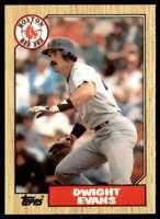 1987 Topps Tiffany Set Break Dwight Evans Boston Red Sox #645