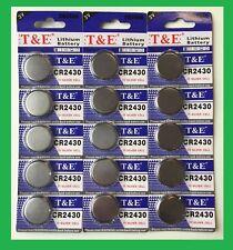 Lot 5 Pile Bouton CR2430 Lithium  3v  CR 2430 3 lots achetés = 4 lots livrés