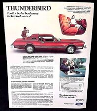 Vintage Ford 1975 Car Brochure Catalog Thunderbird Ford LTD Elite + MORE