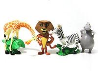 4 Madagascar Alex Gloria Marty Melman PVC Action Figure set Toy Doll Cake topper