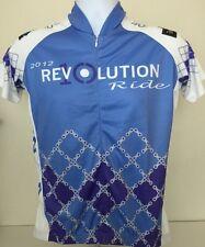 Women's Cycling Jersey Medium  Womax.com Light Blue 2012 Revolution Peets Coffee