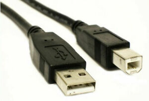 1M USB Cable V2.0 Type A to Type B For Scanner Printer PC Lead HP Epson