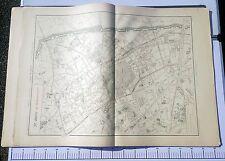 Paris XX ème - Selves Préfet Très Rare Plan de 1905 au 1/5000 (66,5 x 93 cm)