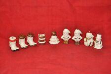 Lot of 10 - Vintage Goebel Christmas Ornaments