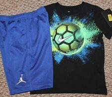 New! Boys Nike Summer Outfit (Shirt, Air Jordan Shorts; Soccer Ball) - Size 7