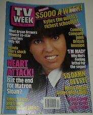 TV WEEK April 1 1989 Kylie Mole, Mel Gibson, Yahoo Serious Pin Up