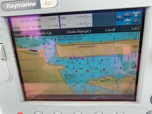 Raymarine C80 Chartplotter  C-Series GPS Fishfinder & Radar  All-In-One