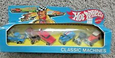 HOT WHEELS VINTAGE CLASSIC MACHINES 6 GIFT PACK SET BLACK WALL HOTWHEELS