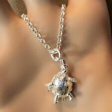 new sterling silver Mr turtle pendant & chain