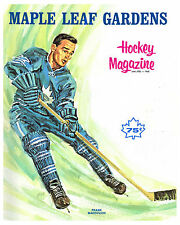 Frank Mahovlich - Maple Leafs 1968 Game Program Cover - 8x10 Photo