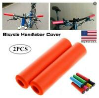 1Pair Silicone Anti-slip Handlebar Soft Grips Cover MTB Bicycle Grips Outdoor