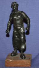 Vintage hand made working man metal statuette