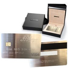 Stainless Steel J.P. Morgan VISA Card Customizable Personality with Box