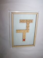 Hallmark Signature Mother's Day Greeting Card/Envelope; Scrabble