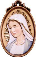 Medaille Der Madonna Miracolosa CM 6 Geschnitzt IN Holz Der IN Gröden