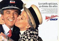 Publicité Advertising 087  1985   SNCF train (2 pages) tarifs spéciaux