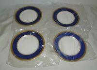 "Coalport England Athlone Blue Set of 4 Bread Plates 6 1/8"" Bone China"