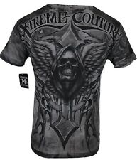 XTREME COUTURE by AFFLICTION Men T-Shirt LAST SCREAM Tatto Biker MMA UFC S-4 $40