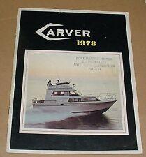 1978 Carver Boat Brochure