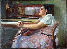 Ancien Tableau François Cron (1889-1973) Peinture Huile Antique Oil Painting
