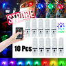 Multi-Color RGB LED Bulbs w/RF Remote Control For Car Parking Lights 168 194 T10