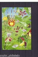"France - ""BUTTERFLIES ~ FLOWERS ~ ORCHIDS"" MNH MS 2005 !"