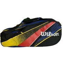 Vintage Wilson Tennis Racquet Bag 80/ 90s Retro Spell Out Red White Blue