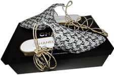 $1095 CHANEL Arabian Night Mules Slides Slingback Sandal Flat Ballet 35.5 RUNWAY