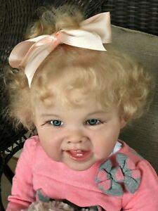 """Toddler little girl 28"""" Adele~Orange Blossom Nursery"""