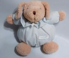 "Carters Puppy Dog Baby Rattle Blue Tan Plush Lovey Toy #23993 Just One Year 6""0"