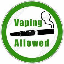 """Vaping Allowed E-cigarette Vape No Smoking Car Bumper Vinyl Sticker Decal 4.6"""""""