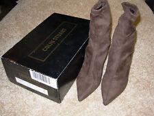 "Victoria Secret Colin Stuart Brown Suede Ankle Boots Booties Womens 7.5, 2"" Heel"