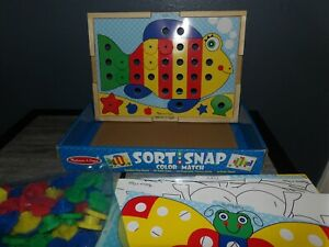 Complete Sort and Snap COLOR MATCH Educational Toy by Melissa & Doug