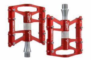 """ROCKBROS Bike Pedals 9/16 """"MTB BMX Road Bike CNC Bearings Anodized 4 Sealed Alu"""