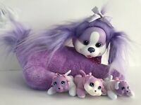 Puppy Surprise Purple Dog with 3 Puppies Babies Plush Stuffed Animal Just Play
