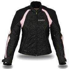 Ladies Motorbike Motorcycle Waterproof Cordura Jacket BP,SLIM FIT XL (Size10)
