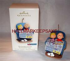 2007 HALLMARK KEEPSAKE ORNAMENT PEANUTS THE SUNDAY FUNNIES CHARLIE BROWN & SALLY