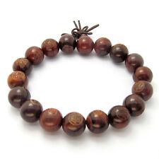 Wood Buddha Word Bodhisattva Tibet Buddhist Prayer Beads Mala Bracelet